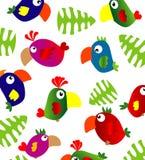 Papagaios ilustração royalty free