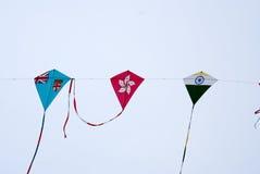 Papagaios da bandeira nacional Imagens de Stock Royalty Free