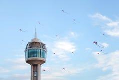 Papagaios do vôo no dia nacional de Barém Imagens de Stock Royalty Free