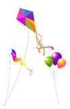 Papagaios e balões Foto de Stock