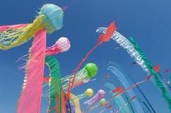 Papagaios no céu Fotografia de Stock