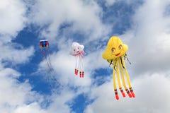 Papagaios no céu Foto de Stock Royalty Free