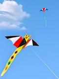 Papagaios no céu Foto de Stock