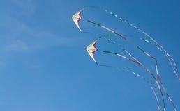 Papagaios que voam no céu Fotografia de Stock