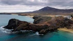 Papagayo海滩-兰萨罗特岛,加那利群岛 免版税库存照片