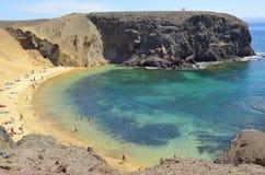 Papagayo海滩 库存照片