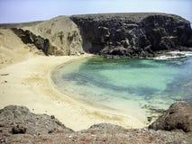 Papagayo beach Lanzarote in Canary Royalty Free Stock Photo