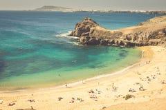 Papagayo beach, Lanzarote. Canary Island. Royalty Free Stock Photos
