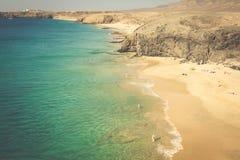 Papagayo beach, Lanzarote. Canary Island. Stock Photos