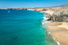 Papagayo beach, Lanzarote. Canary Island. Stock Images