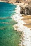 Papagayo beach, Lanzarote. Canary Island. Royalty Free Stock Images