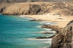 Papagayo beach, Lanzarote. Canary Island. Royalty Free Stock Image