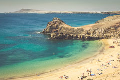 Papagayo Beach, Lanzarote, Canary Islands Stock Image