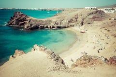 Papagayo Beach, Lanzarote, Canary Islands Stock Photo