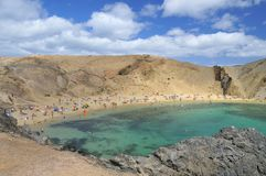 Papagayo beach in Lanzarote. Stock Photos