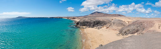 Papagayo Beach in Lanzarote Royalty Free Stock Photography