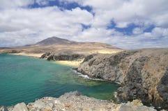Papagayo beach, Lanzarote, Spain. Stock Images