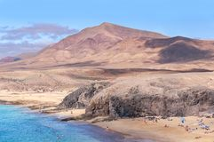 Playa de Papagayo Beach in Lanzarote, Spain stock image