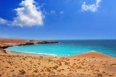 Papagayo caleta del Congrio beach in Lanzarote Royalty Free Stock Photos