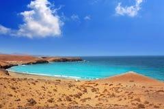 Papagayo caleta del Congrio beach in Lanzarote Royalty Free Stock Photos