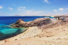 papagayo lanzarote пляжа Стоковое Изображение