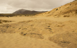 Papagayo plaża na Lanzarote, wyspa kanaryjska archipelag Obraz Royalty Free