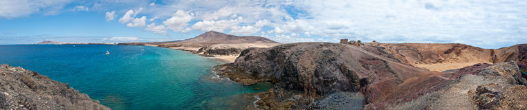 Papagayo strand i Lanzarote Arkivbild