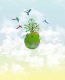 Papageien in den Wolken vektor abbildung