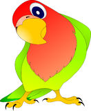 Papageienliebhaber stock abbildung