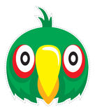 Papageienmaskenvektor Lizenzfreies Stockfoto