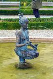 Papagena喷泉1984年马格纳斯在Mirabell庭院里 免版税库存照片