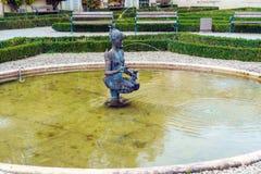 Papagena喷泉1984年马格纳斯在Mirabell庭院里 库存照片