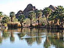 Papago公园,亚利桑那 免版税图库摄影