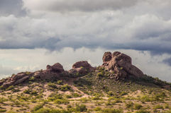 Papago Park Phoenix Arizona after a storm. Papago Park in Phoenix Arizona, popular location after a storm Royalty Free Stock Photography