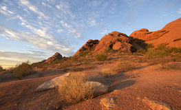 Papago Park, roter Felsen Butte in Phoenix, AZ Stockfotos