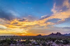 Papago Park at Sunset Royalty Free Stock Images