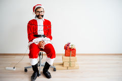 Papai Noel amarrou Fotografia de Stock
