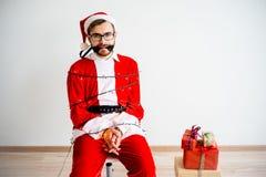 Papai Noel amarrou Foto de Stock Royalty Free