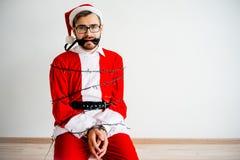 Papai Noel amarrou Fotografia de Stock Royalty Free