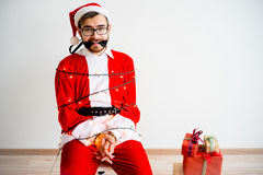 Papai Noel amarrou Imagem de Stock Royalty Free