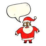 Papai Noel chocado desenhos animados com bolha do discurso Imagem de Stock Royalty Free