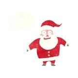 Papai Noel chocado desenhos animados com bolha do pensamento Imagem de Stock Royalty Free