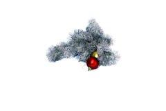 Papai Noel com árvore de Natal Objeto isolado no backgr branco Fotos de Stock