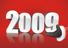 Papai Noel com 2009 ilustração royalty free
