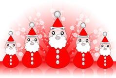 Papai Noel com fundo Ilustração Stock