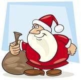 Papai Noel com o saco de presentes Fotografia de Stock