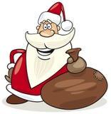 Papai Noel com o saco de presentes Imagem de Stock