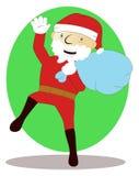 Papai Noel com o saco do presente ilustração do vetor