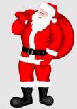 Papai Noel com o saco para presentes Fotos de Stock