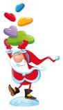 Papai Noel com presente ilustração stock